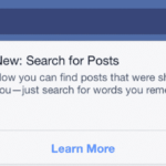 New Facebook Search